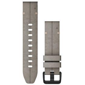 Garmin QuickFit Correa Reloj de Cuero Perforado 20mm para Fenix 6S, gris